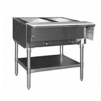 Eagle Group SHT2LP Hot Food Table Food Warmer 2 Wells 33 Length LP Gas Stainless Undershelf and Legs