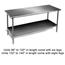 Eagle Group T2448B1X Work Table Stainless Steel Top Galvanized Undershelf and Legs 24 x 48 Length 16 Gauge Top Budget Series