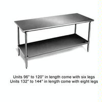 Eagle Group T2430SBX Work Table Stainless Steel Top Undershelf and Legs 24 x 30 Length 16 Gauge Top Budget Series