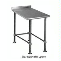 Eagle Group UT2418STEBX Filler Table 24W x 18L 16 Gauge With Rear Upturn Deluxe Series