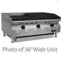 Eagle Group CLCHRB24NGX CharBroiler Countertop Gas Radiant 24 Wide 40000 BTU every 12 Manual Controls RedHots Chef Line