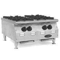 Eagle Group CLHP4NGX Hotplate Countertop Gas 4 Burners 25000 BTU Each RedHots Chefs Line Series