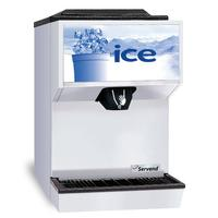 SerVend M45 Ice Dispenser Countertop 45 lb Capacity Manual Fill Ice Maker Not Included