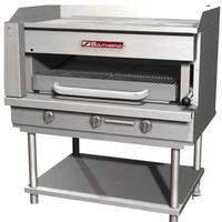 Southbend SSB36 Steakhouse Overfire Radiant Broiler with Griddle Top Countertop Gas 36 Wide 84000 BTU 12 Plate Manual Controls With Stand Platinum Series