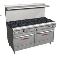 Southbend Range 4602DD Range 60 Wide 10 Burners with Wavy Grates 27000 BTU With Two Standard Ovens 45000 BTU Ultimate Series