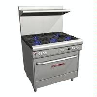 Southbend 4366D Range 36 Wide 3 Star Saute Burners Front 33000 BTU and 2 Pyromax Burners Rear 40000 BTU With Standard Oven 45000 BTU Ultimate Series