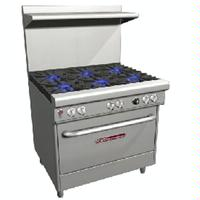 Southbend 4363D Range 36 Wide 6 Star Saute Burners 33000 BTU with Standard Oven 45000 BTU Ultimate Series
