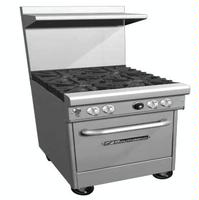 Southbend 4242E Range 24 Wide 4 Burners With Wavy Grates 33000 BTU Space Saver Oven Base Ultimate Series