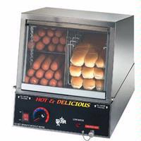 Star Mfg 35SSA Hot Dog Steamer170 Dogs 18 Bun Capacity With Juice Tray