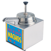 Star Mfg 3WLAHS Nacho Cheese Warmer with Pump Lighted Countertop 35 Quart Capacity Base Unit Only Bowls Pumps Ladles Sold Separately