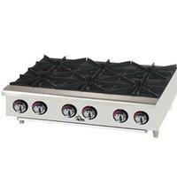 Star Mfg 606HF Hotplate Countertop Gas 6 Burners 25000 BTU Each StarMax Series
