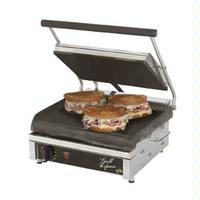 Star Mfg GX14IS Sandwich Grill Electric Two sided Grill 14 Smooth Iron Grill Plates Thermostatic Control Grill Express Series