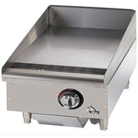 Star Mfg 615MF Griddle Countertop Gas 15 Length 28300 BTU Every 12 1 Thick Plate Manual Controls StarMax Series