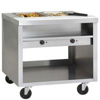 Delfield EHEI36C Hot Food Table 2 Wells Electric 36 Length Wells with Drains Infinite Controls Casters EChef Series