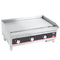 Vollrath 40721 Griddle Gas 36 Length 28000 BTU Every 12 34 Thick Plate Manual Controls