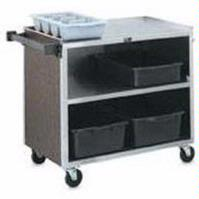 Vollrath 97181 Bussing Cart 3 Stainless Steel Shelves 300 Lb Capacity