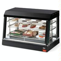 Vollrath 40733 Heated Countertop Display Merchandiser 85F 175F Passive Humidity Black Finish 3 Adjustable Shelves 26 Wide Front and Rear Sliding Doors