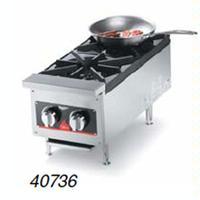 Vollrath 40736 Hotplate Countertop Gas 2 Burners 26000 BTU Each Cayenne Series