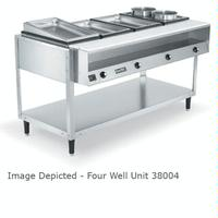 Vollrath 38105 Hot Food Table 5 Wells Individual Sealed Wells with Drains 700 Watts per Well ServeWell Series