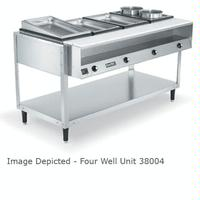 Vollrath 38118 Hot Food Table 4 Wells Individual Sealed Wells With Drains 700 Watts Per Well ServeWell Series