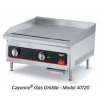 Vollrath 40722 Griddle Countertop Gas 24 Wide 28000 BTU 2 Controls 34 Thick Plate Thermostatic Control Cayenne Series