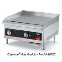 Vollrath 40719 Griddle Countertop Gas 18 Wide 28000 BTU 1 Control 34 Thick Plate Manual Control Cayenne Series