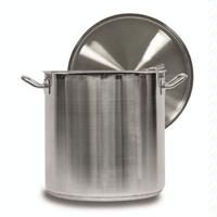 Vollrath 3504 Stock Pot with Cover 18 Quart 11 Diameter 11 Deep Stainless Steel Optio Series Priced Each Ships 4 per Case