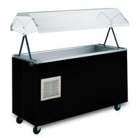 Vollrath 38707 Hot Food Table 3 Pan 46 Long x 24 Wide 35 Work Surface Complete with Buffet Breath Guard Black Affordable Portable Series