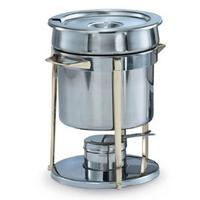 Vollrath 46075 Marmite 725 quart Stainless with Brass Cast Legs Brass Trim Rack 725 inset Classic Design Series