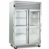 Traulsen G21000 Glass Door Merchandiser ReachIn Refrigerator Two Swing Half Doors Hinging LeftRight 52 18 Wide Top Mounted Refrigeration