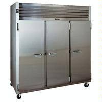 Traulsen G31010 ReachIn STORAGE Freezer 3 Stainless Steel Doors hinged LeftRightRight 76516 Wide Casters G Series