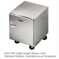 Traulsen UHT27L Undercounter Refrigerator 1 Door Hinged Left 27 Wide 6 Adjustable Legs Dealers Choice