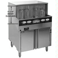 CMA Dishmachines GW100 Glass Washer 2514 Wide Cabinet 1000 Glasses Per Hour Built in Wash Tank Heater Low Temp Chemical Sanitizing Energy Mizer Series