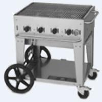Crown Verity MCB30LP CharBroiler Outdoor Portable 30 Wide Radiant Style LP Gas Includes Hose and Regulator 64500 BTU