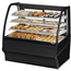True TDMDC48GEGEBW Bakery Case NonRefrigerated TiltOut Curved Glass 4814 Length x 49 H