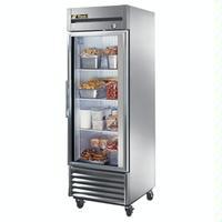 True Food Service Equipment T23FG ReachIn Freezer 1 Swing Glass Door 27 Wide x 7838 High 23 Cubic Feet 4 Castors