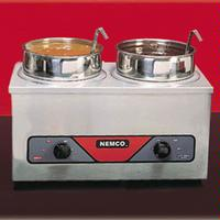 Nemco 6120A Food Warmer Countertop 4 Qt Twin Wells 120 v 700 Watts Insets sold Separately