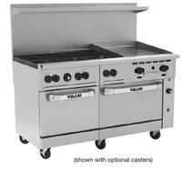 Vulcan 60SS6B24G Range 60 Wide 6 Burners 30000 BTU 24 Manual Griddle Right with Two Standard Ovens Left Oven 23000 BTU Right Oven 35000 BTU Endurance Series