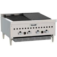 Vulcan VCCB25 CharBroiler Countertop Gas Radiant 25 Length 14500 BTU Every 6 Manual Controls Low Profile
