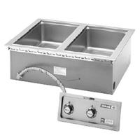 Wells MOD200 Food Warmer Top Mount Built In Electric 2 12 x 20 Openings WetDry Infinite Controls