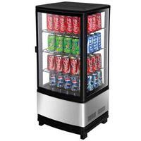 Turbo Air CRT771R Glass Door Refrigerated Merchandiser Countertop 1 Swing Door 1634 Wide x 16 Deep x 3812 Height 3 Cubic Feet