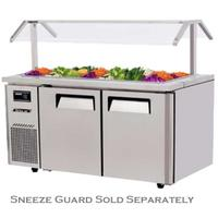 Turbo Air JBT60N Refrigerated Counter Cold Food Buffet Salad Bar 12 13 Size Food Pans 59 Length Casters Sneeze Guard Sold Separately