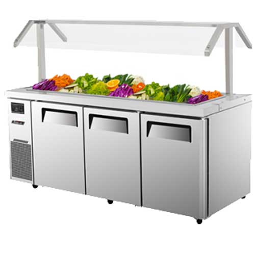 Turbo Jbt 72 Refrigerated Counter Salad Bar 3 Stainless
