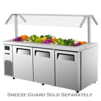 Turbo Air JBT72N Refrigerated Counter Cold Food Buffet Salad Bar 15 13 Size Food Pans 7078 Length Casters Sneeze Guard Sold Separately