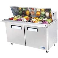 Turbo Air MST6024N Refrigerated Counter Sandwich Salad Prep Table Mega Top 24 16 Size Insert Pans 6014 Length Casters