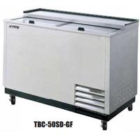Turbo Air TBC50SDGFN Glass and Plate Chiller and Froster Capacity 140 8 Mugs or 386 10 Steins 50 Wide Stainless Countertop and Lid Stainless Exterior Super Deluxe Series