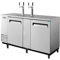 Turbo Air TBD3SDN Draft Beer Cooler Dispenser 3 12 Keg Capacity 6918 Length Stainless Exterior Casters