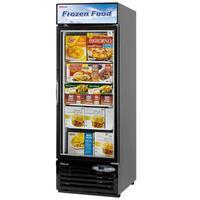 Turbo Air TGF23FB Glass Door Freezer Merchandiser 1 Swing Door 27 Length 177 CuFt Black