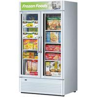Turbo Air TGF35SDN Glass Door Freezer Merchandiser 2 Swing Doors 3912 Length 2844 CuFt Super Deluxe