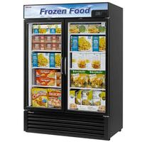 Turbo Air TGF49FBN Glass Door Freezer Merchandiser 2 Swing Doors 5438 Length 398 CuFt Black